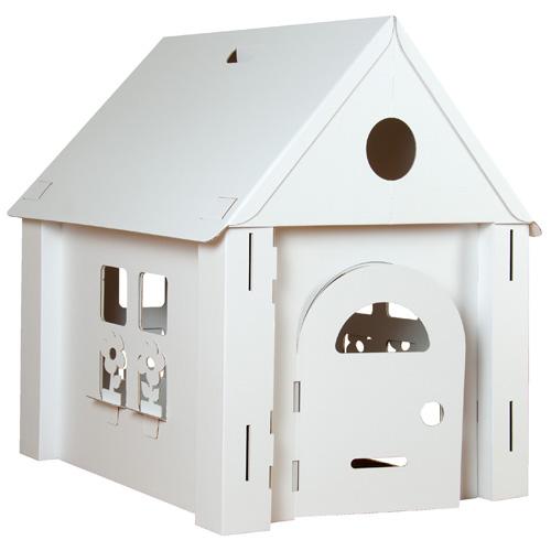 bouwpakket karton speelhuis kopen. Black Bedroom Furniture Sets. Home Design Ideas